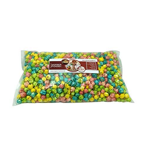 Süßes Mushroom Popcorn 1 kg in verschiedenen Varianten frisch Handgemacht in Brandenburger Popcorn Manufaktur (Bunt 4 Farben Mädchen)