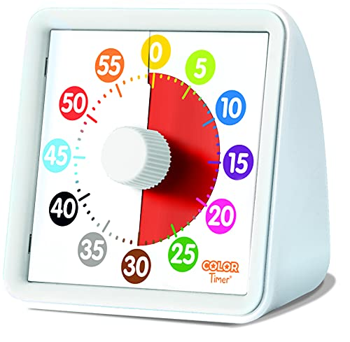 Animal Visual Timer and Color Timer for Kids, Preschoolers & Toddlers - Silent Classroom and Home 60-Minute Countdown Clock, Time Management Tool (Color Timer)