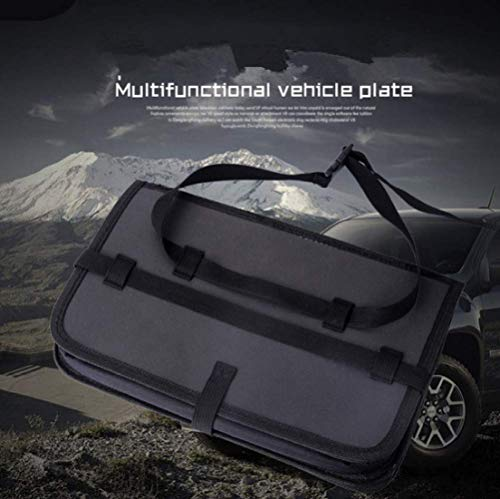 Car Back Seat Table Laptop Holder,Portable Car Computer Desk Bracket,Foldable Laptop Food Tray Storage Bag Interior Accessories