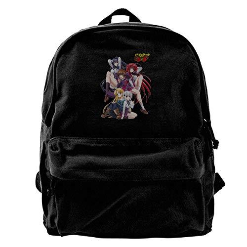 Yuanmeiju Zaino in Tela High School DxD Anime Canvas Backpack Rucksack Bag School Backpack