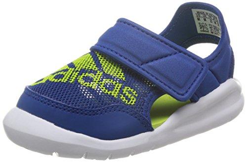 adidas Flexzee I, Zapatos (1-10 Meses) Unisex bebé, Azul/Verde/Blanco (Eqtazu/Seliso/Ftwbla), 19