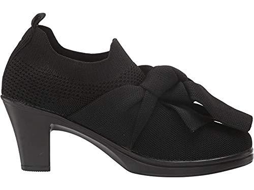 Bernie Mev Womens Chesca Serenity Pump Heel Booties (Black, 8.5)