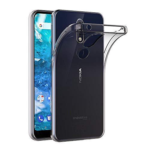 AICEK Nokia 7.1 Hülle, Transparent Silikon Schutzhülle für Nokia 7.1 Case Clear Durchsichtige TPU Bumper Nokia 7.1 Handyhülle (5,84 Zoll)