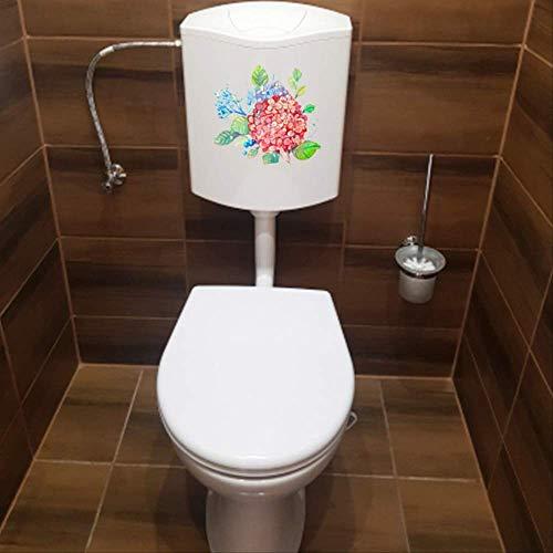 Autocollant De Siège De Toilette Hortensia Creative Cartoon Chambre Mur Décor Home Wc 23.9 * 23.3Cm