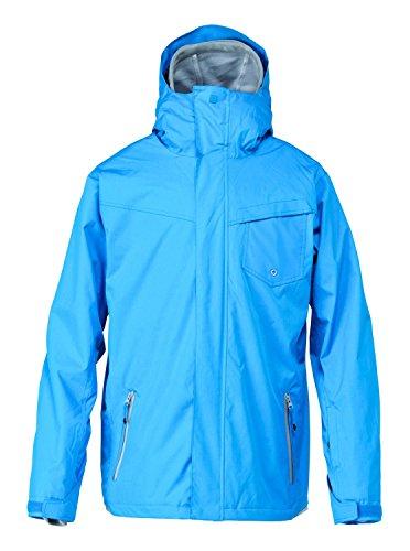 Quiksilver Herren Snowboard Jacke Mission Syst Jacket, Brilliant Blue, L