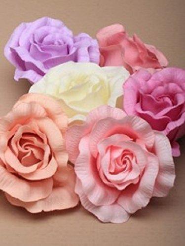 5974 Grand tissu de couleur pastel rose sur un clip fourchette, rose crème, lilas violet pêche et rose Wedding Races.