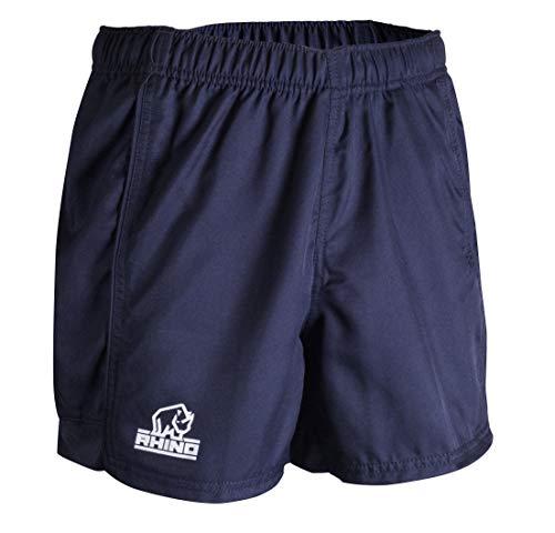 Rhino Auckland Short Pantalones Cortos de Rugby, Unisex Adulto, Azul Marino, Small
