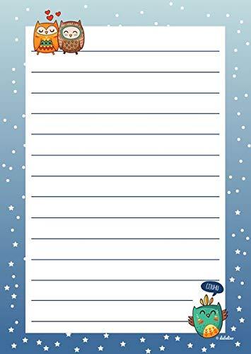 Briefpapier-Set für Kinder: Eulen