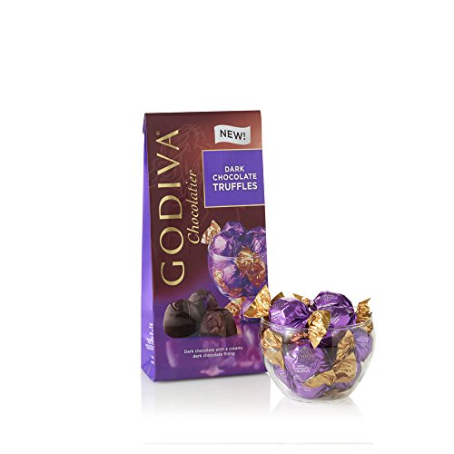 Godiva Chocolatier Wrapped Dark Chocolate Truffles, Great as a Gift