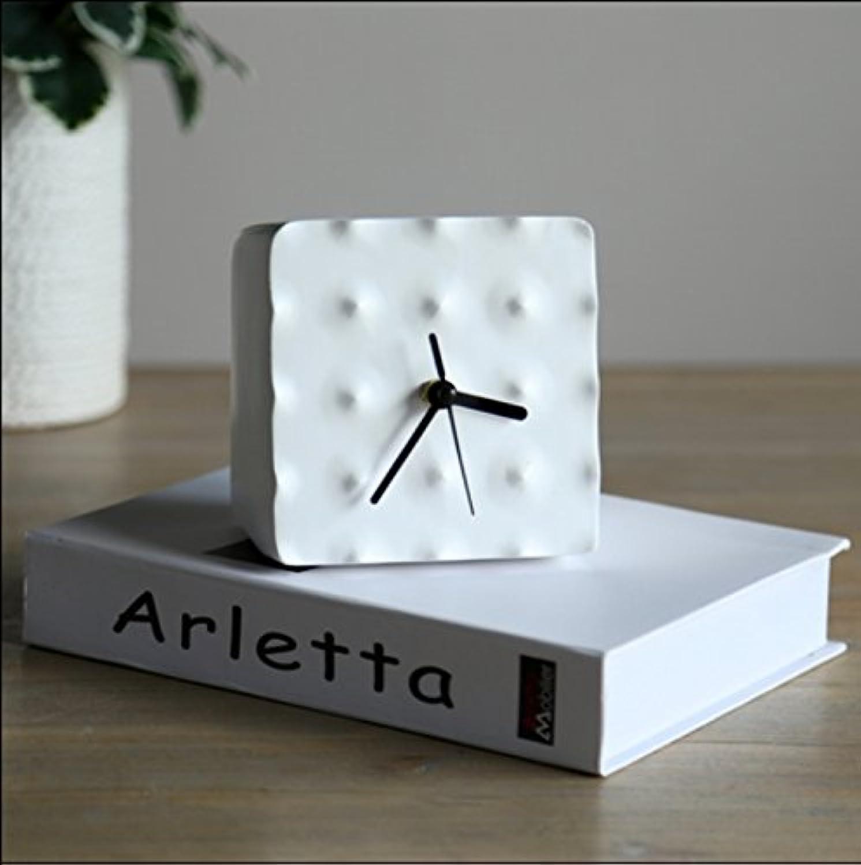 WUTONG Modernen minimalistischen nordischen Modell Raum Studie weien geometrischen Hügel Uhr Ornamente Studie Desktop-Dekorationen