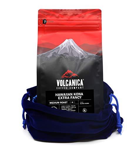 Hawaiian Kona Coffee Extra Fancy, 100% Pure, Whole Bean, Fresh Roasted, 16-ounce