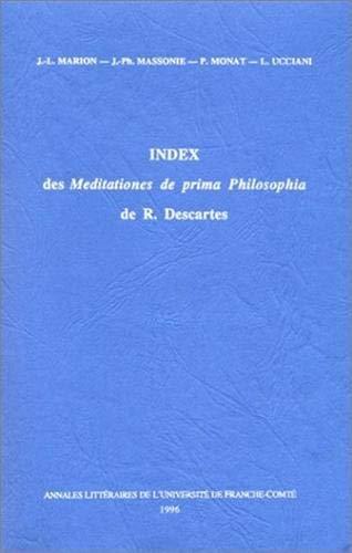 Index des Meditationes de Prima Philosophia de R. Descartes