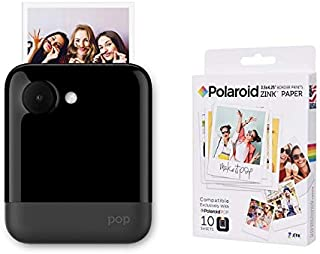 Polaroid POP Instant Print Camera Black with Polaroid Zink 3.5 X 4.25-10 sheets Pack