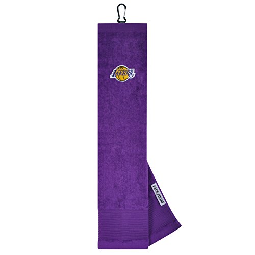 Team Effort Los Angeles Lakers Face/Club Tri-Fold Embroidered Towel