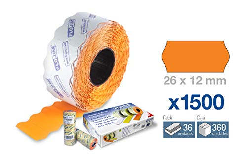 36 Rollos 1500 Etiquetas Marcaje - Naranja