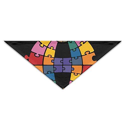 JMAKI Hundehalsbänder Hunde Halstuch,Puzzle Art Triangle Pet Scarf Dog Bandana Pet Collars,Soft Head Scarfs Accessories Pet bib Pet Supplies