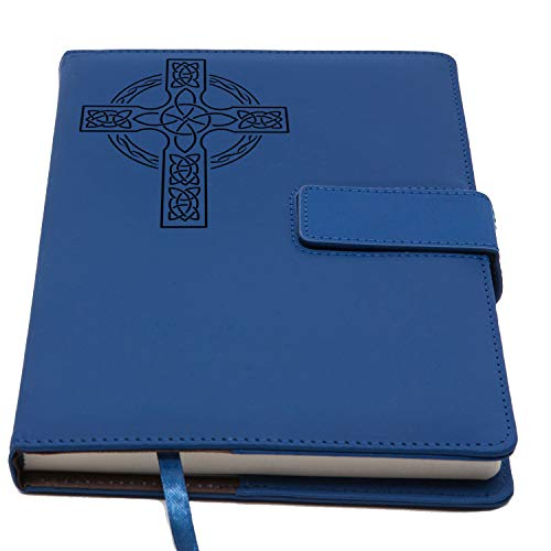 The Celtic Cross Journal | Magnetic Refillable Writing Journal, Faux Leather Journal With Lined Pages, 5 x 8 Inch, 200 Pages | Diary, Notebook, Personal Journal For Women and Men | The Amazing Office