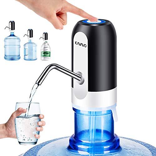 Wasserflaschen Pumpe, Bonus 2 Adapter für Wasserkrüge abweichen Kaliber, wiederaufladbarer USB Trinkwasserschalter, tragbarer elektrischer Wasserspender mit 2 frei zu schneidenden Schläuchen.