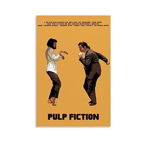 TINGTAI - Poster cinematografico di Pulp Fiction, stile vintage, retrò, stampa di film, poster su tela, per soggiorno, camera da letto, 40 x 60 cm