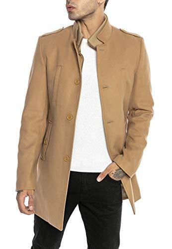 Redbridge Cappotto da Uomo elegante Giacca lunga invernale Slim Fit Transformable Marrone S