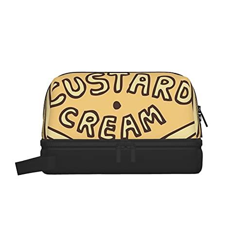 Bolsa de lavado multifuncional, bolsa de maquillaje, organizador de cosméticos, bolsa de aseo colgante para hombres y mujeres (crema crema crema británica)