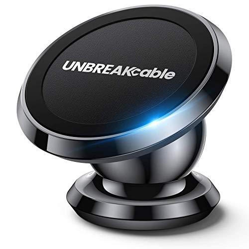 UNBREAKcable Soporte Magnético Teléfono Móvil Coche, Soporte Universal de Teléfono Móvil para Tablero Rotación 360° para iPhone SE 2020/11/11 Pro/X/XS/XR/8/7, Samsung S20/S10/S9, Huawei P40/P30y Más