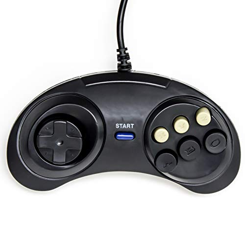 Old Skool Classic Sega Genesis Controller- 6-Button Game pad