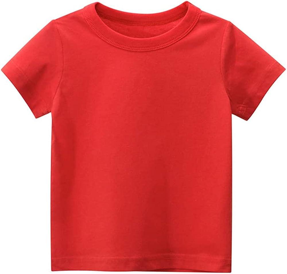 ARTMINE Toddler Boys Girls Short Sleeve Crew Neck T-Shirt