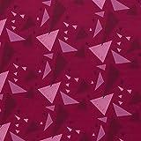 Glünz Softshell Fiete Dreiecke pink - Stoff - Meterware -