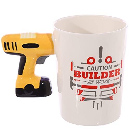 Puckator Mug en céramique avec poignée en Forme de perceuse Multicolore Hauteur 10,5 cm Largeur 14 cm Profondeur 8,5 cm