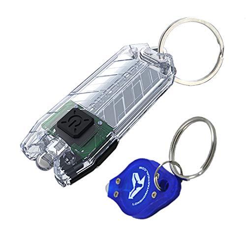 NITECORE TUBE V2.0 55 Lumen USB Rechargeable UltraLight Keychain Flashlight with LumenTac Keychain (Transparent)
