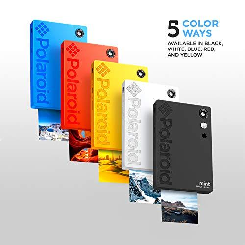 Polaroid Mint Impresora de bolsillo con Tecnología Zink Zero Ink papel adhesivo 5 x 7.6 cm - Bluetooth para Android y iOS (Amarillo)