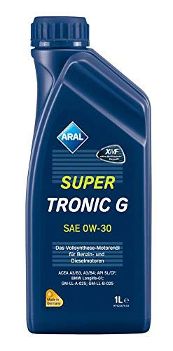 ARAL 12 Liter Motoröl SuperTronic G 0W-30, 12X1L A9 (9089100168)