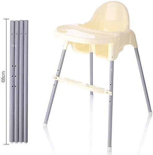 HJW Tabouret pratique pour bébé Dinette Chaise haute multi-réglable portable Garçon Fille Chaise de salle à manger, kaki