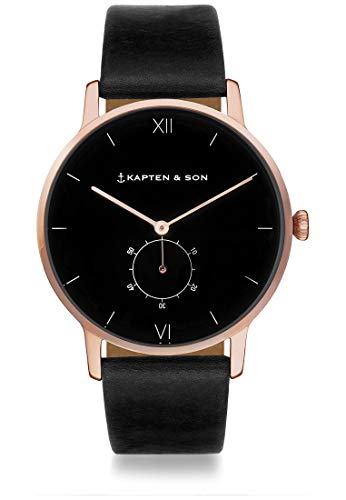 Kapten & Son Unisex-Uhren Analog Quarz One Size Leder 87601005