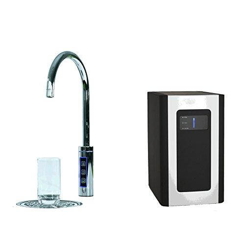 SPRUDELUX Untertisch-Trinkwassersystem Blue Diamond inklusive 3-Wege-Zusatzarmatur. Profi-Wassersprudler für den Privathaushalt. Spritziges Mineralwasser/Sprudelwasser direkt aus der Küchenarmatur