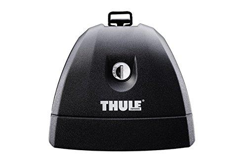 Thule TH751 Pies para Barras de Techo, Negro, Plata
