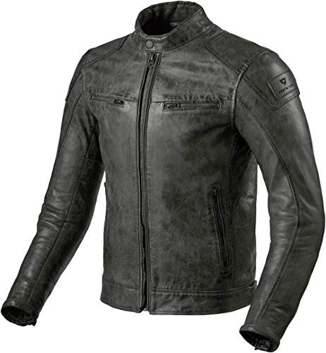 Revit Huntington Motorrad Lederjacke Anthrazit 56