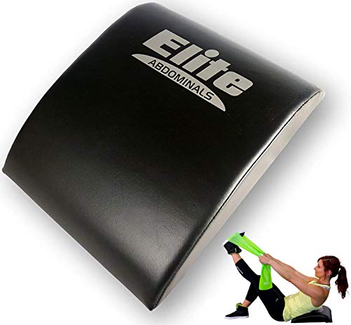 Elite Ab Sit Up Mat - Our High Quality Sit up Pillow Gives Great Lower Back Support, Helping to Remove All The Strain, Making Sit Ups Easy - Abdominal Sit Up Pad With Bonus Resistance Band Included