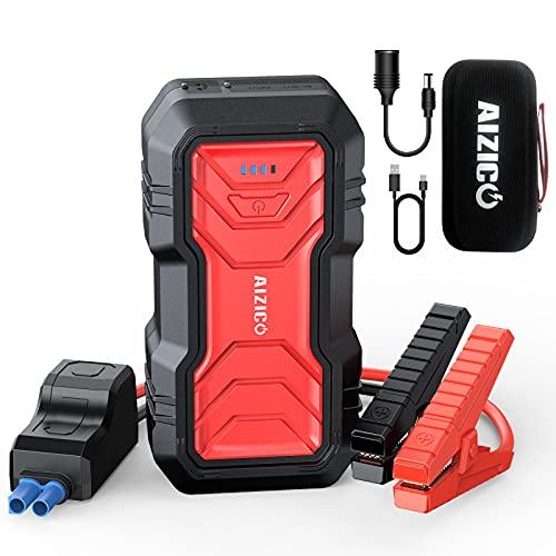 AIZICO Portable Car Jump Starter, 2500A Peak 22800mAh Battery Booster for...