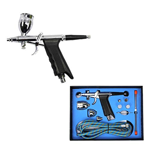 pistola de gravedad con una taza de 2//3 oz y una taza de 4//3 oz boquilla de doble acci/ón de 0,2 mm y 0,3 mm y 0,5 mm Royalmax AB-131S Kit de aer/ógrafo multiusos