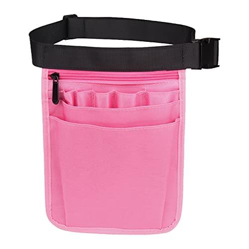 Sharplace Nylon 9 Taschen Organizer Gürtel für Krankenschwestern, Krankenschwester Organizer Gürteltasche Tasche für Schere Pflegeset Zubehör Werkzeugkoffer - Rosa