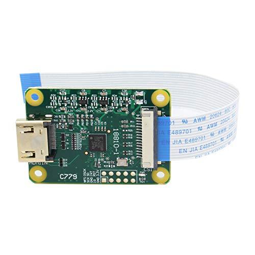 Geekworm Raspberry Pi HDMI IN Module, HDMI to CSI-2, HDMI inpute supports up to 1080p25fps Compatible with Raspberry Pi 4B/3B+/3B/Pi Zero/Zero W