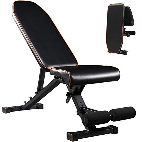 WLNKJ Fitness Hantel Hocker, Sit-Ups Fitnessgeräte Haushalt Bauch Multifunktions Faltbare Bauchmuskel Board Hantel Bank