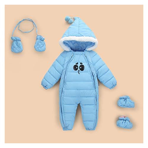 GuanRen Down Cotton Baby Rampers Spring Winter Winter Boys Girls Cálido Infantil Niño Jumpsuit Niños Outerwear Wear 0-18M Ropa recién Nacida (Color : Baby Blue, Size : 9M)