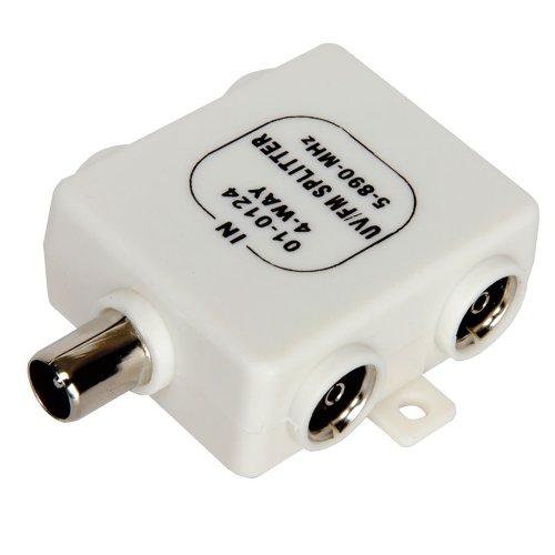 RF Divisor TDT TV 4 Manera UV FM VHF Aéreo 1 Entrada a 4 Output Tvs