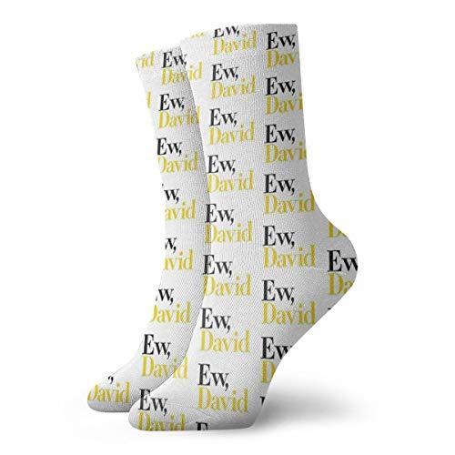 Wilson-Martin Top Selling Ew, David (Schitt'S Creek) Socks Casual Socks Sports Socks Fun Work Socks for Men/Women 11.8Inch