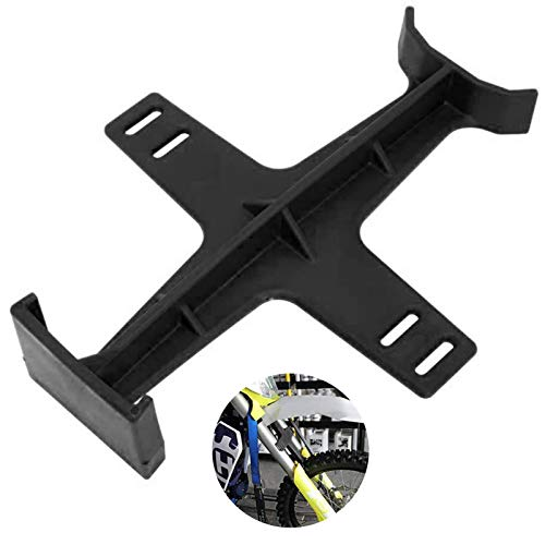 Universal Fork Guard Suspension Support Brace Stand Protector Tie Down Seal Saver Protection for Dirt Bike Motorcycle Motocross (Black)