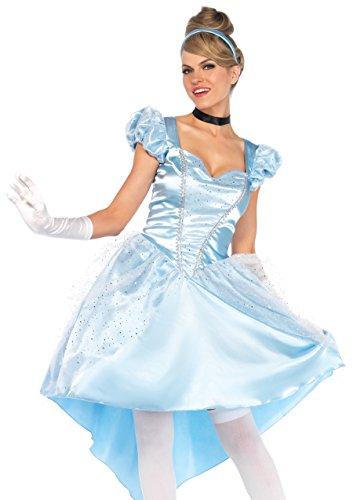 Leg Avenue 85624 85624-3Tl Set Bezauberndes Cinderella, Blau, L, Damen Fasching Kostüm, Größe: L (EUR 42-44)