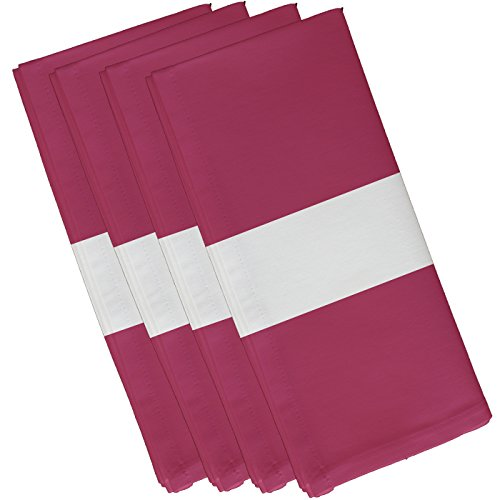 """E By Design Narrow The Gap Stripe Print Napkin, 19"""" by 19"""", Pink Cheeks -  N4SN243PK5"""